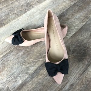 Pointy Toe Flats with Bow